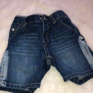 Levi's baby boy denim shorts